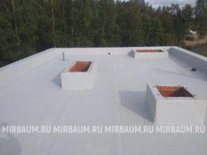 Устройство плоской кровли с покрытием из Мембраны ПВХ в пос. Белоостров