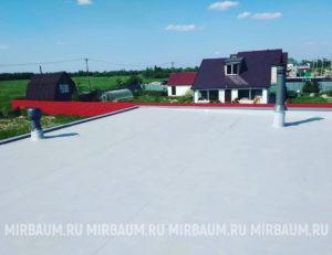 Устройство плоской кровли с покрытием из Мембраны ПВХ в Яльгелево
