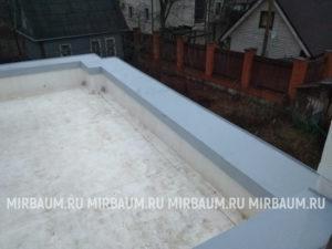 Устройство плоской кровли с покрытием из Мембраны ПВХ в Сестрорецке