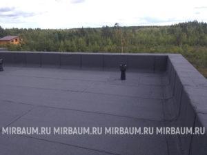 Устройство плоской кровли с покрытием из битумно-полимерного материала в КП «Ровам»