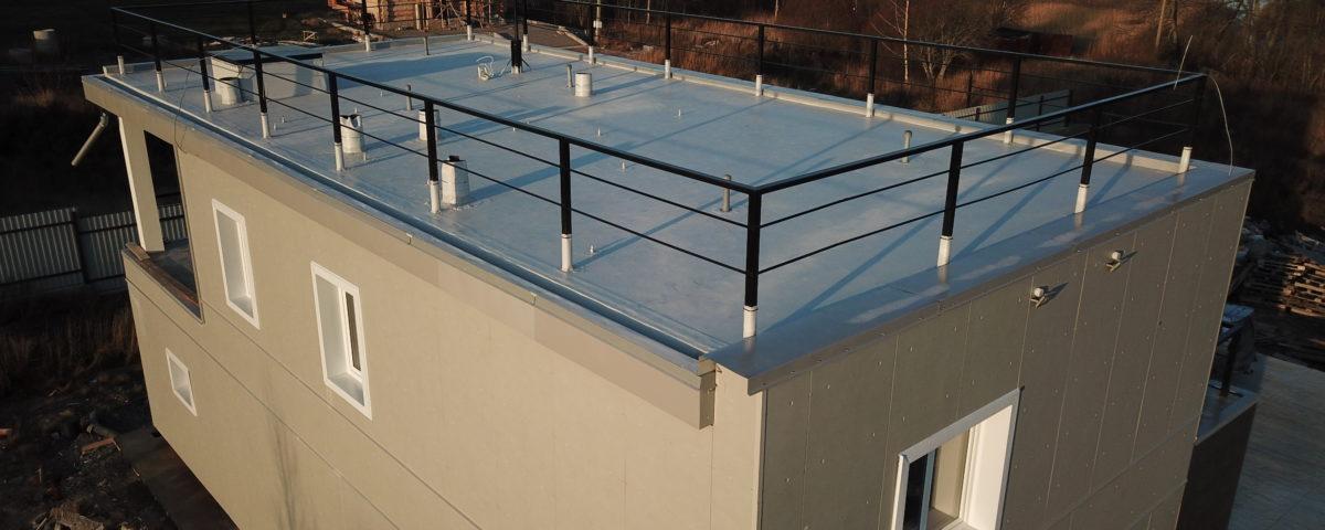 Плоская крыша – плюсы и минусы