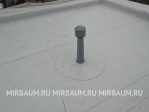 Устройство плоской кровли с покрытием из Мембраны ПВХ в Пальмира