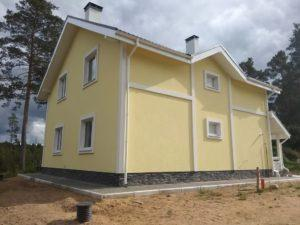 Устройство фасада, поселок Сосново