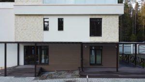 Устройство фасада в поселке Ильичево