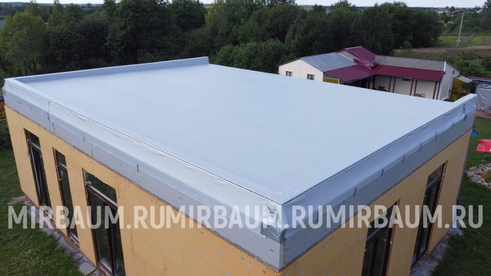 устройство плоской крыши в КП Лукаши