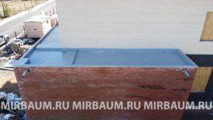 Устройство плоской кровли балкона с покрытием из Мембраны ПВХ в КП Юкковское , Ленинградская область