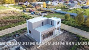 Устройство плоской кровли, деревня Разбегаево