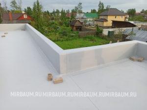 Устройство плоской кровли с покрытием из Мембраны ПВХ, п. Ульяновка
