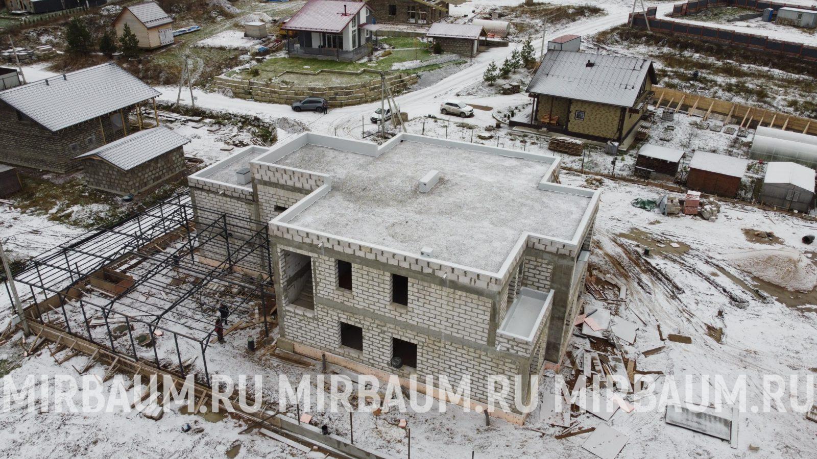 Плоская крыша в ДНП Светлана