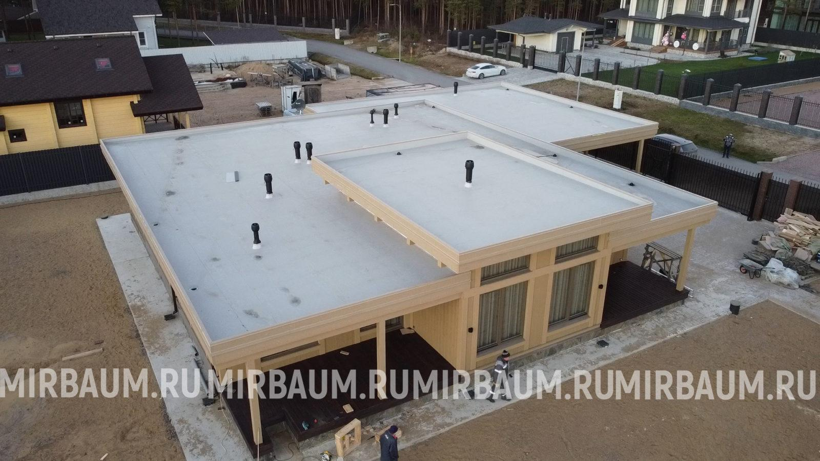 Плоская крыша в кп Охта Парк