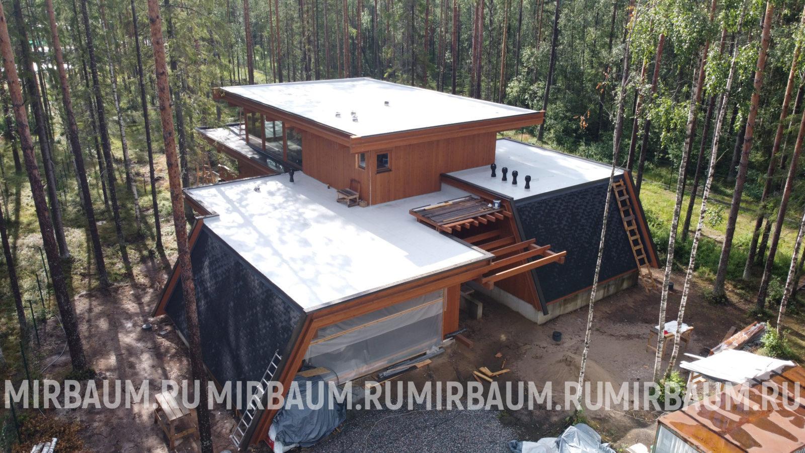плоская крыша в репино парк