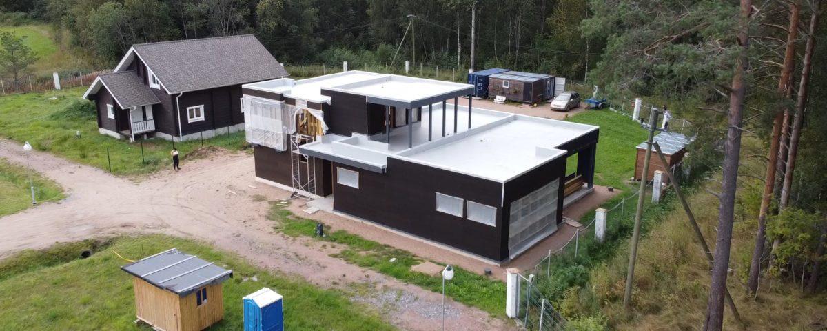 Устройство плоской крыши каркасного дома